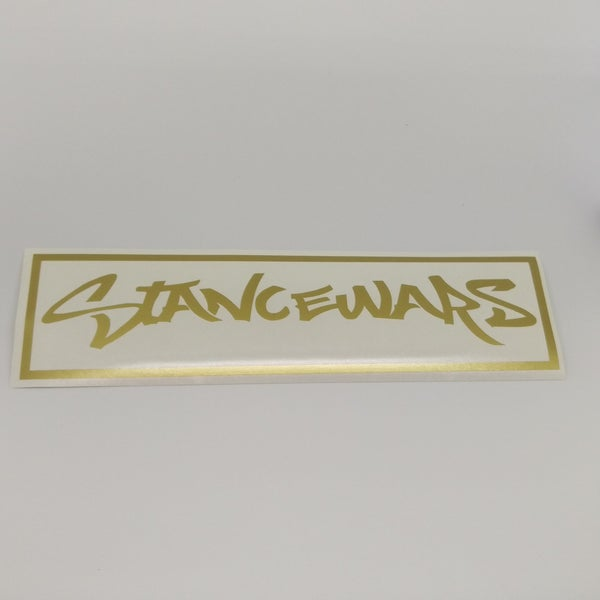 Image of 12inch Outline Banner - Gold