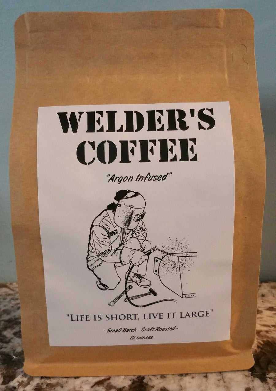 Image of Welder's Coffee 12 Ounces (Columbian Medium Roast, Whole Bean)