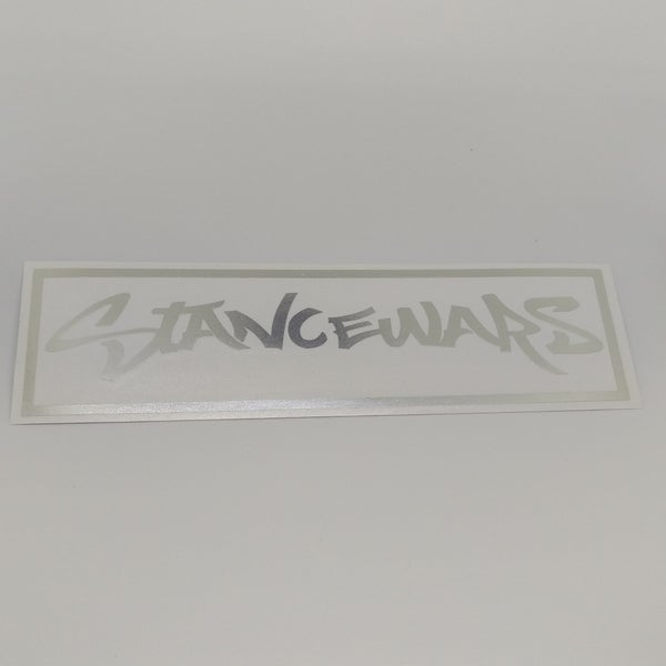 Image of 12inch Outline Banner - Silver