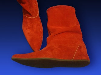 Image of ROYAL GUARD RED SUEDE BOOTIES