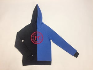 Image of black and Blue Reassamble Hoodie