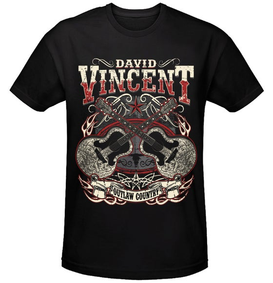 Image of David Vincent Outlaw Country T-Shirt
