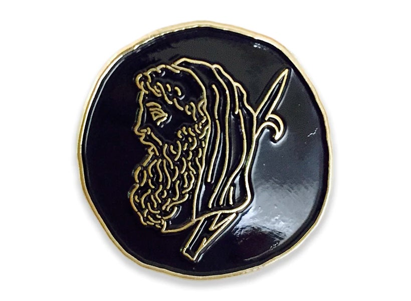 Image of 'Old Gentleman' Pin