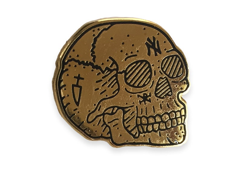 Image of Occult NY Skull pin