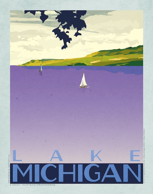 Image of Lake Michigan Bay 11x14 Print No. [047]