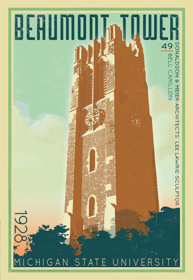 Image of Beaumont Tower 2016 Limited Edition 13x19 Print No. [068]