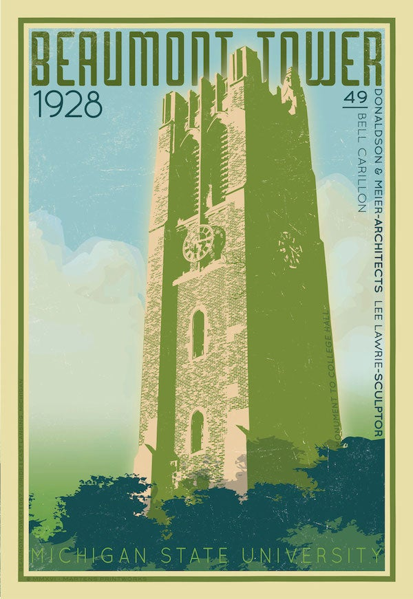 """Image of Beaumont Tower """"Viride"""" 2016 Limited Edition 13x19 Print No. [067]"""