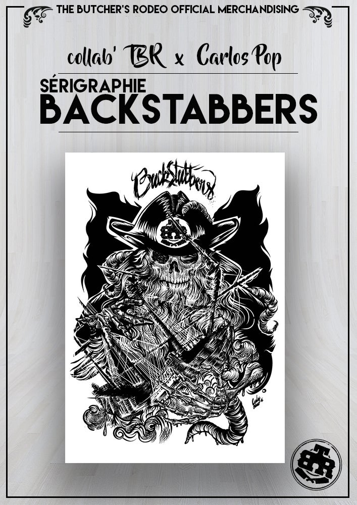 Image of SERIGRAPHHIE BACKSTABBERS x Carlos POP