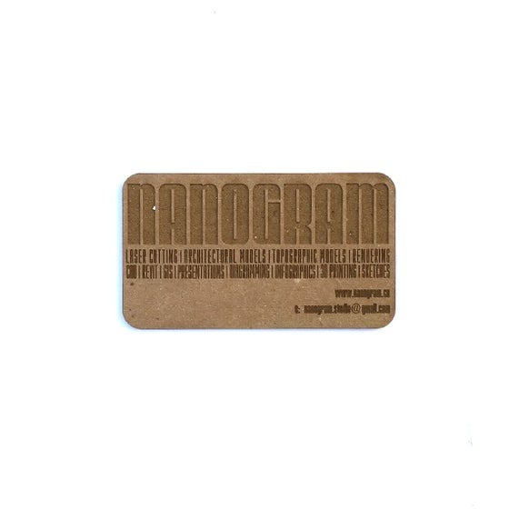 Image of 100 Lasercut Museum Board Business Cards