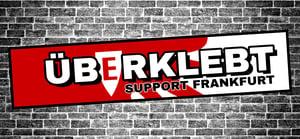 Image of Aufkleber Überklebt Support Frankfurt