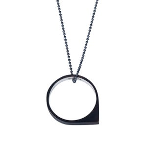 Image of Convertible necklace/ring 'Circle+|- #5 Drop'