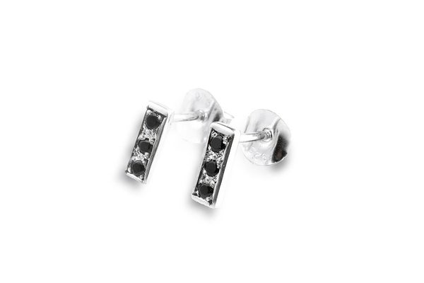 Image of Orion earrings with black spinels