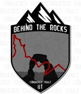 "Image of ""Behind The Rocks"" Trail Badge"
