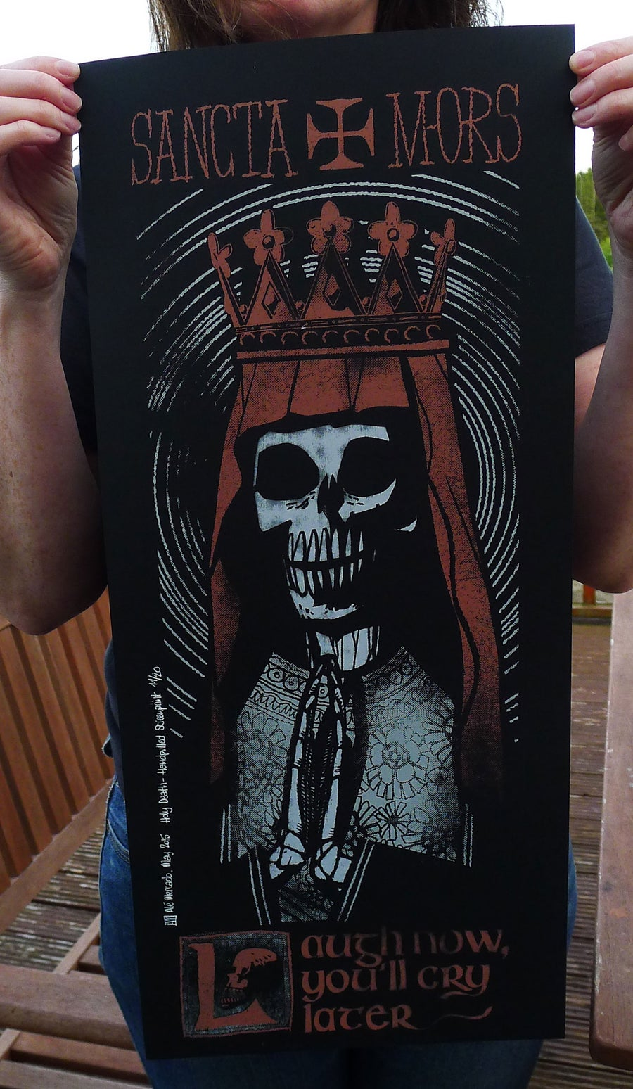 Image of Santa Muerte Screenprint