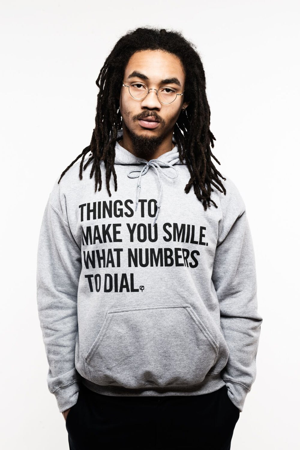 Image of MAD QUESTION ASKING - Hoodie (GREY)