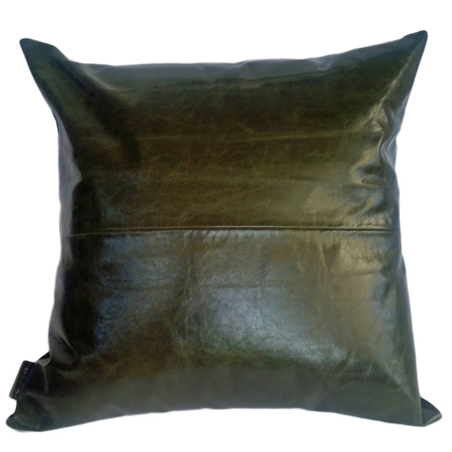 Image of Leather cushion cover- assorted colours & sizes