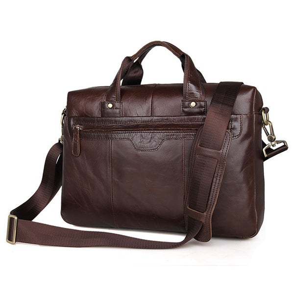 "Image of Handmade Antique Leather Briefcase / Messenger / 11"" 13"" MacBook or 13"" 14"" Laptop Bag (n58)"