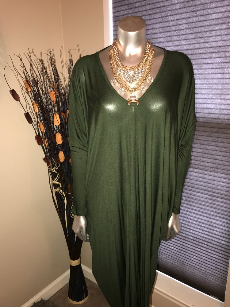 Image of Gigi Oversized Dress (Green)