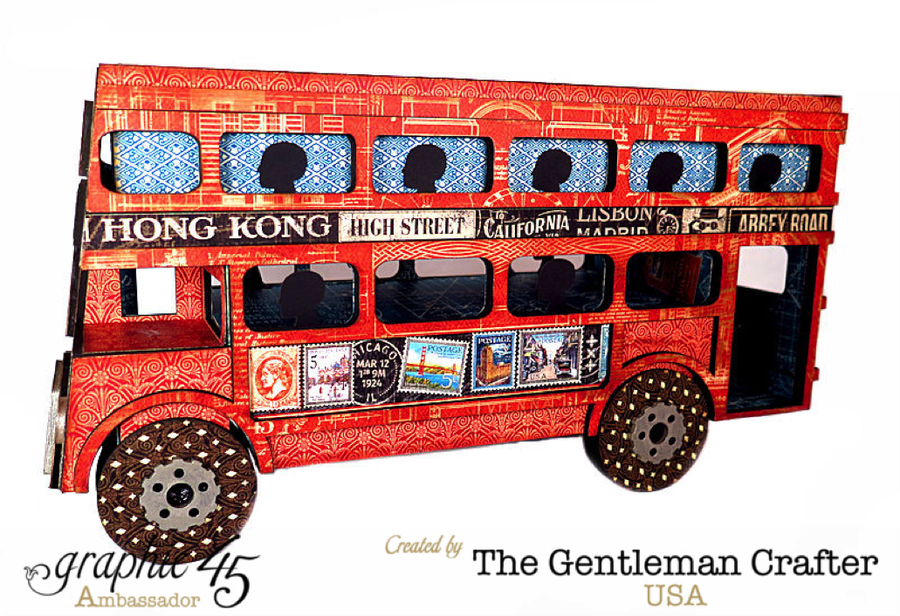 Image of Double Decker Bus Tutorial with .SVG files- Instant Download