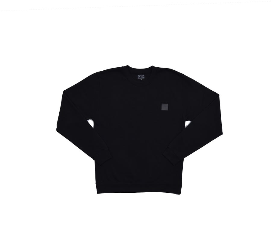 Image of RWLS LEATHER CREW NECK BLACK