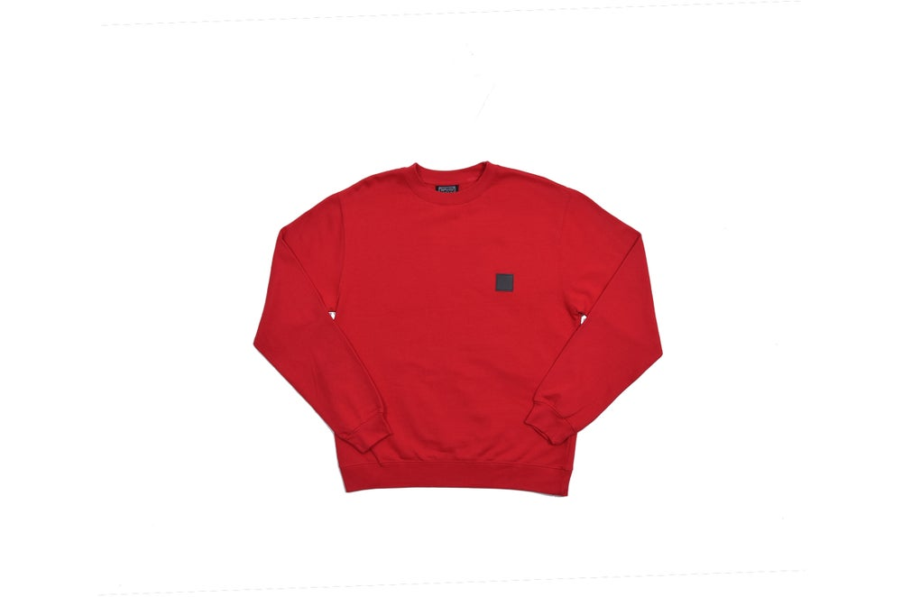 Image of RWLS LEATHER CREW NECK RED