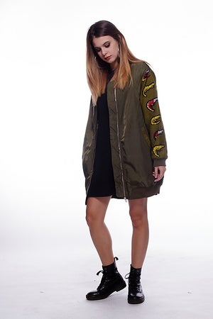 "Image of  **** BOMBER JACKET LUNGO ""DON'T LOOK BACK"" ****"