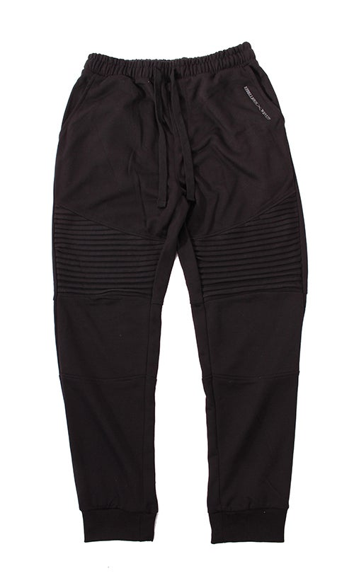 Image of RWLS Premium Fleece Ribbed Jogger Black