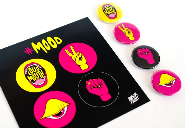 Image of #MOOD BUTTON PACK