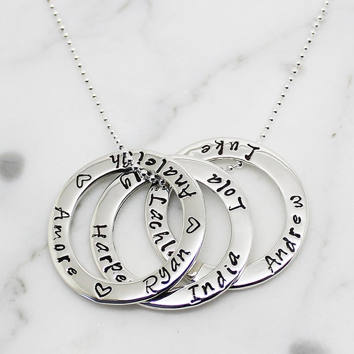 "Image of Triple ""Circle of Love"" Necklace"