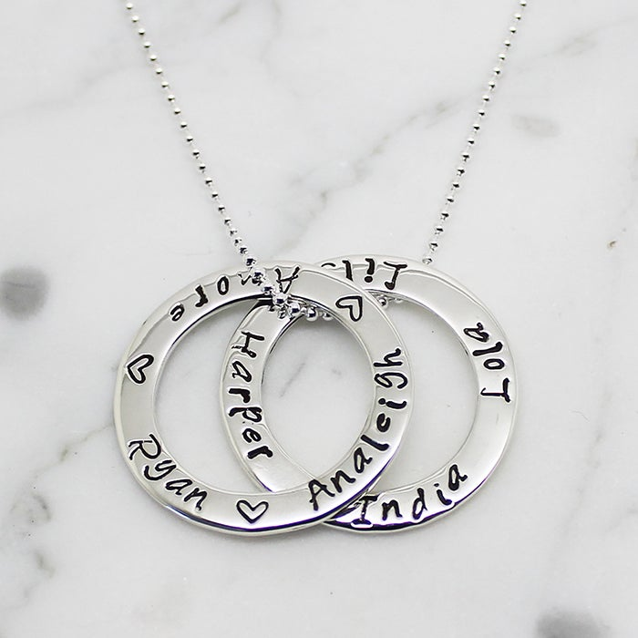 Double circle of love necklace free shipping worldwide image of double circle of love necklace aloadofball Choice Image
