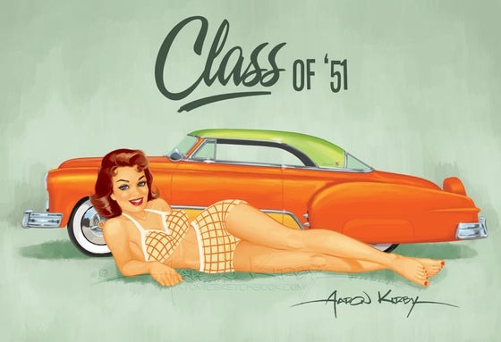 Image of Larry Ernst Chevy (v1) pin up print