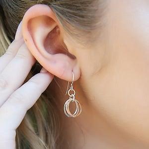 Image of Mini Trio Earrings - Mixed Metals