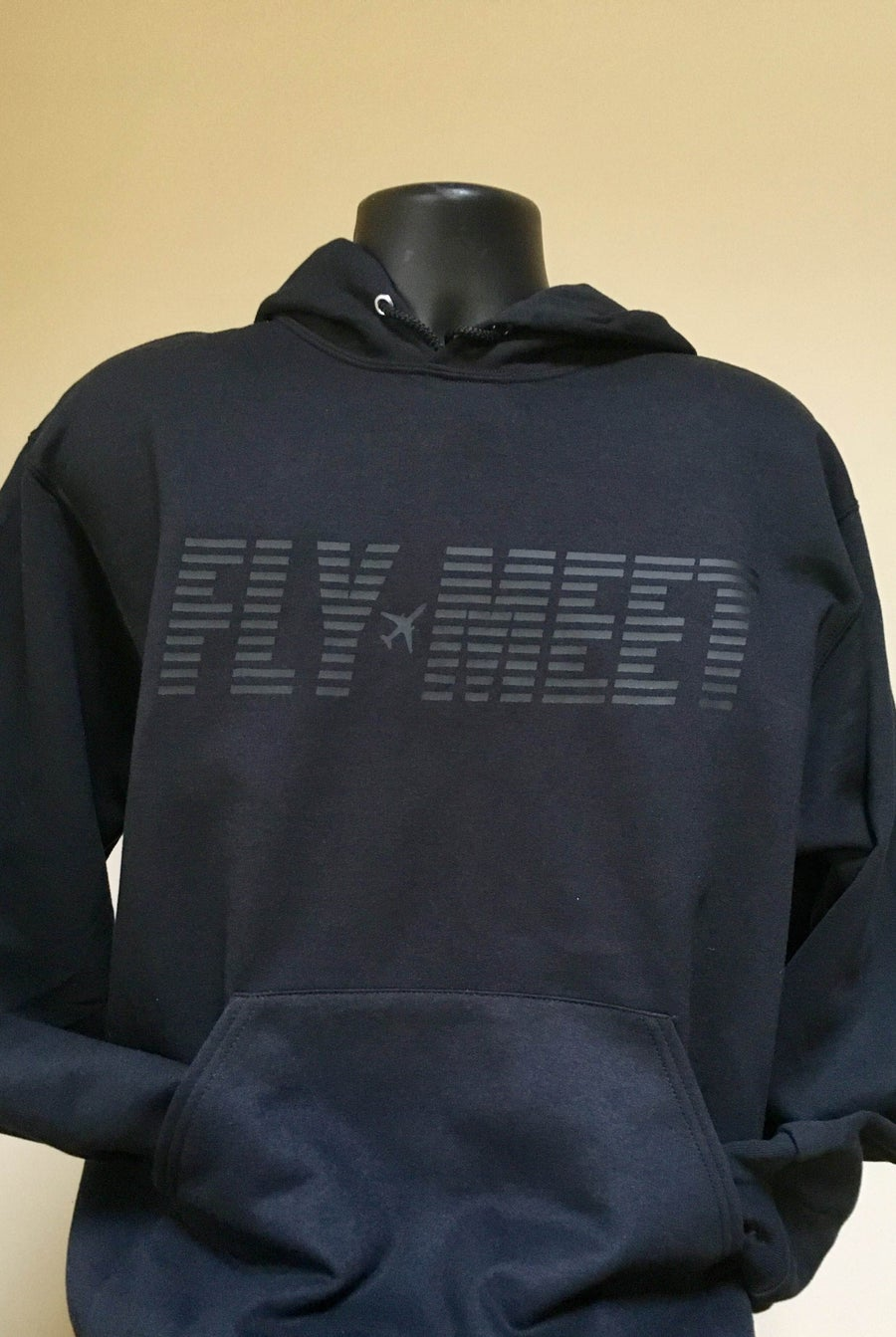 Image of Fly Meet Company - Hooded Sweatshirt (Stealth Bomber)