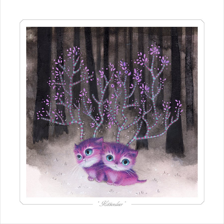 "Image of ""Kittendeer"" Limited edition Print"