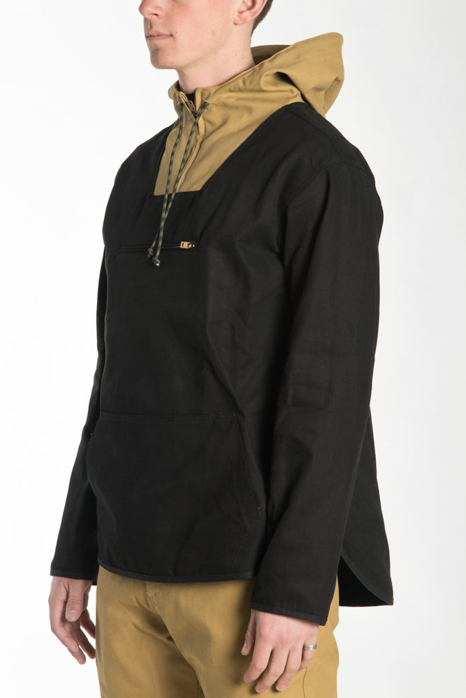 Image of AN15-ANORAK (BLACK/WHEAT)