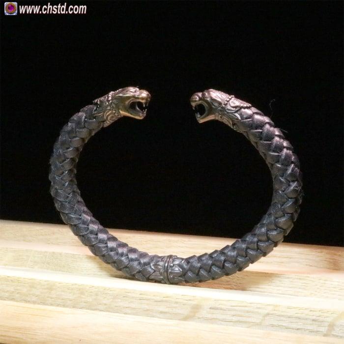 Leather Bracelet / Pantera / Dark