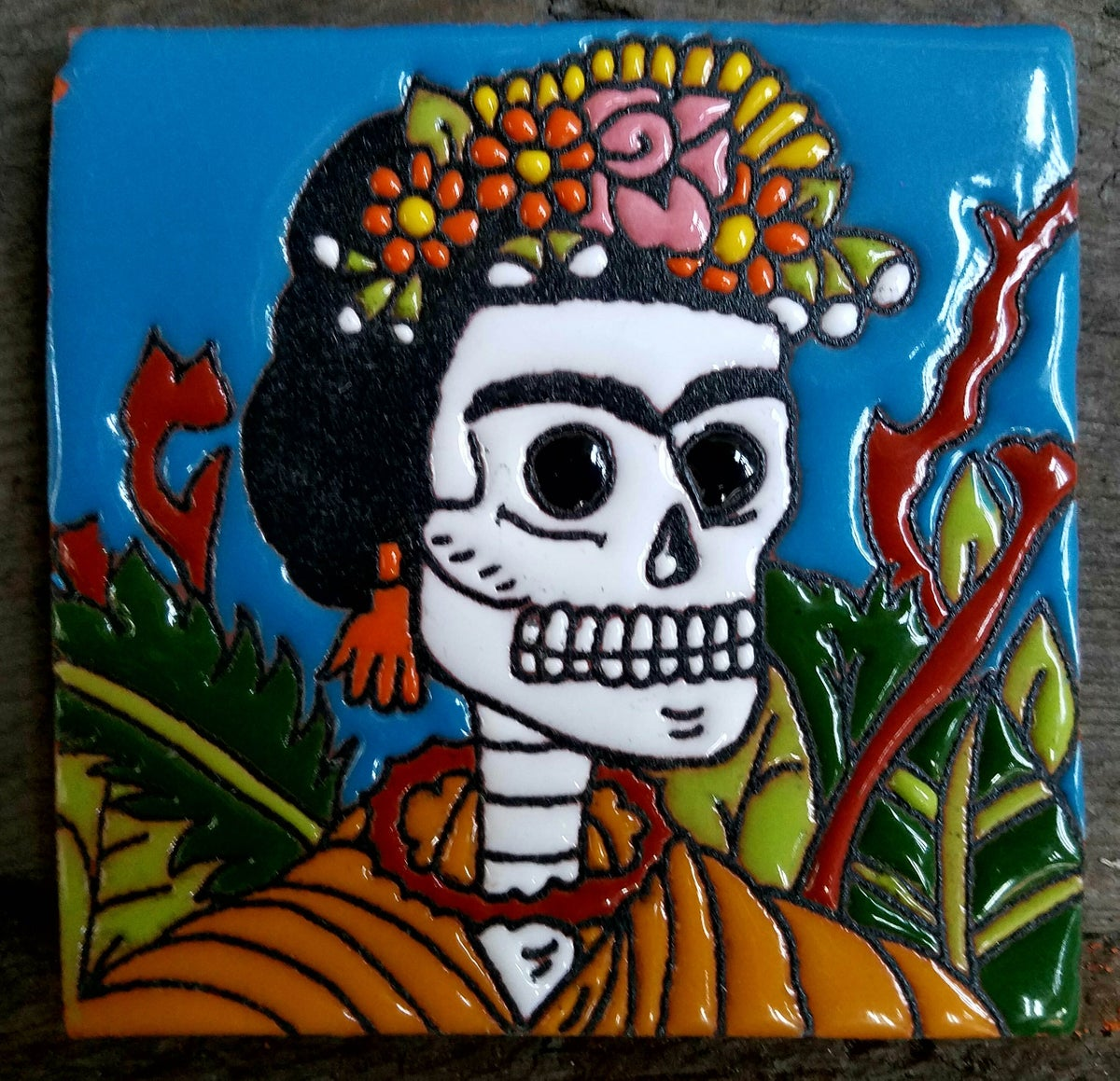 Image of Frida Garden Coaster Tile