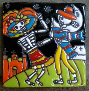 Image of Dancing Moonlight Coaster Tile