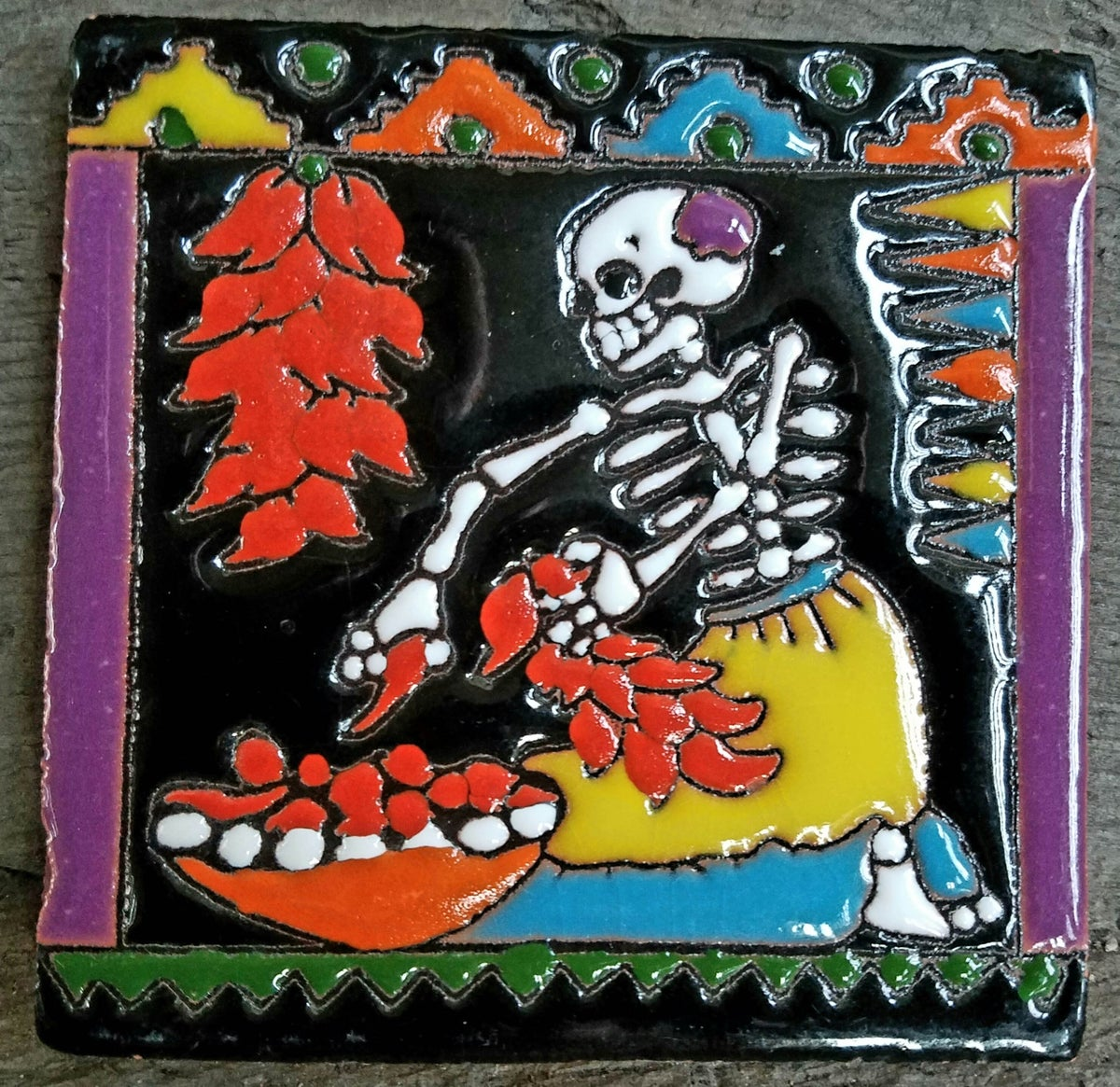 Image of New Mexico Chili Coaster Tile