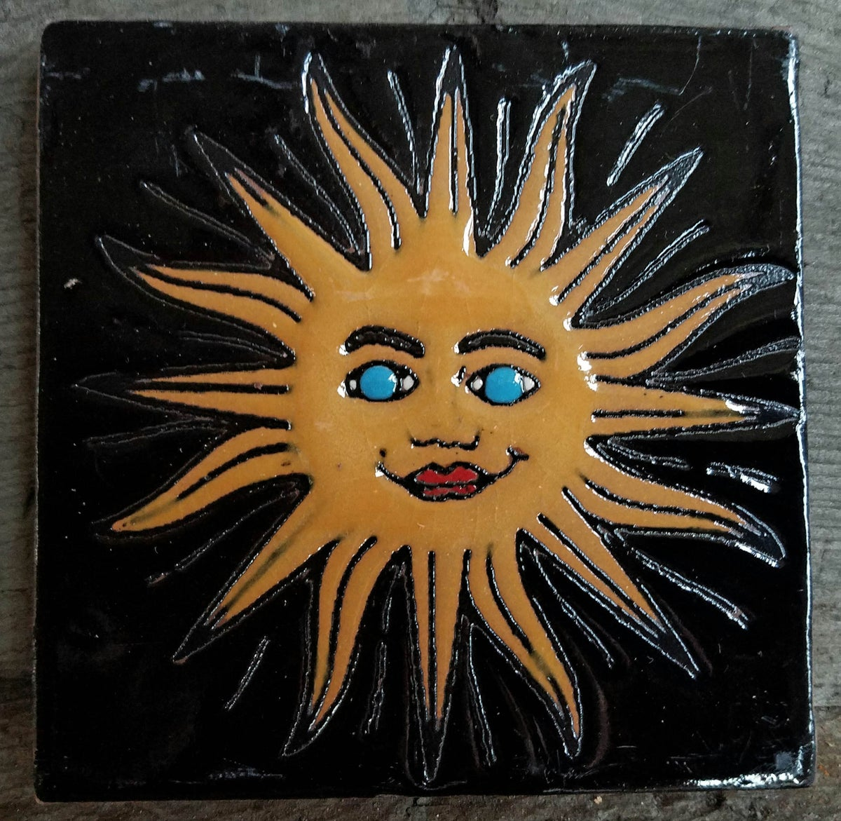 Image of Black Sol Coaster Tile