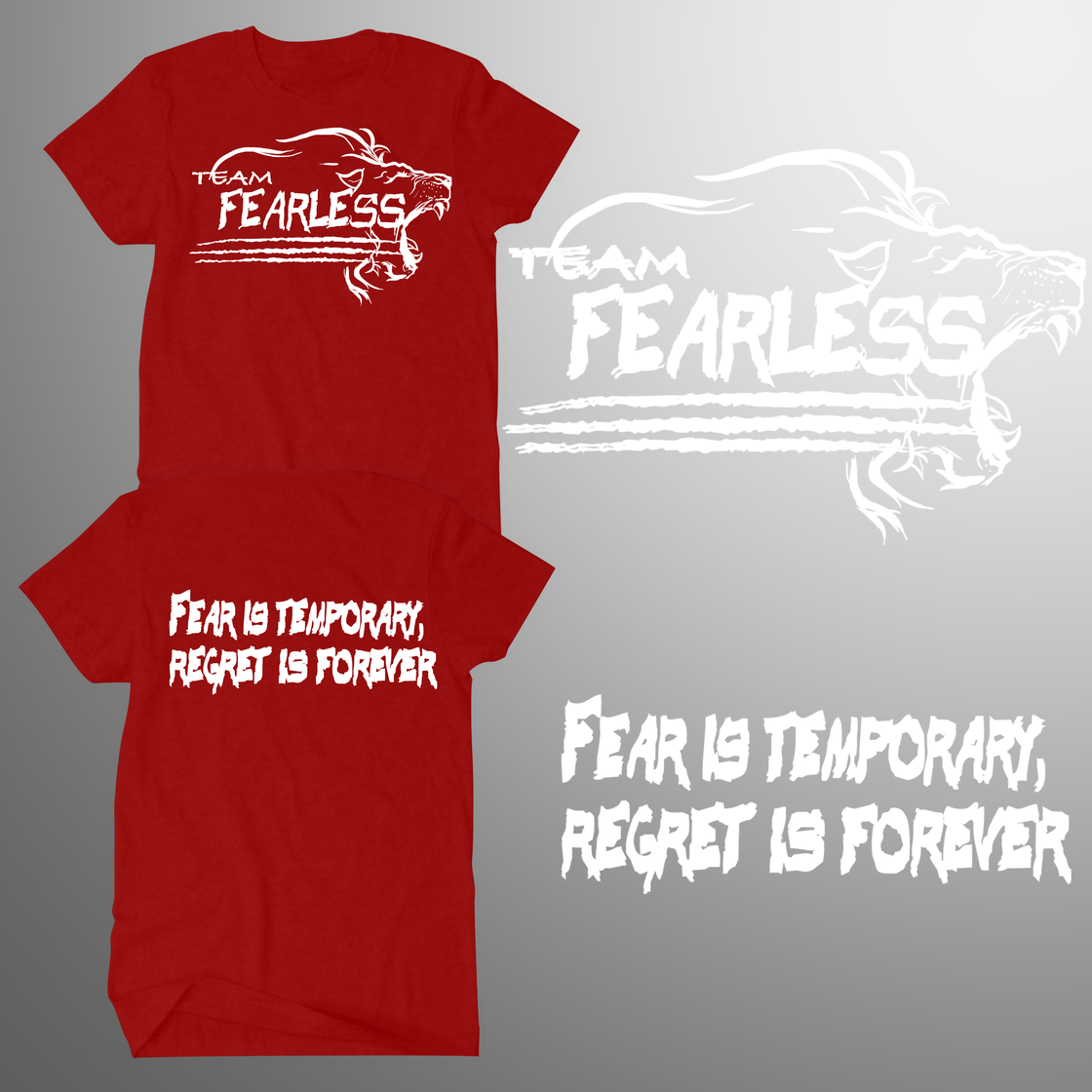 Image of TEAM FEARLESS 2017 T - NAVY, RED, PINK, GREY