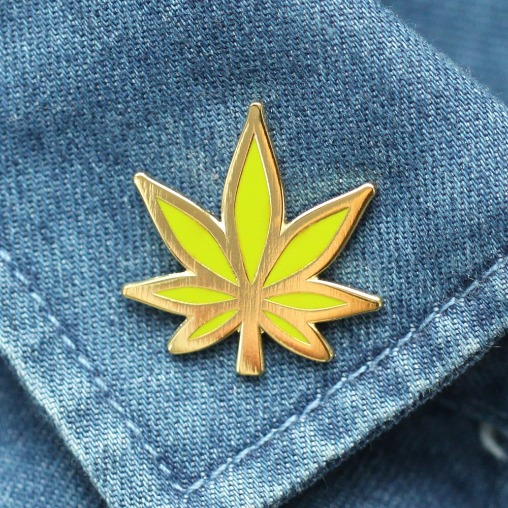 Image of Weed Leaf Enamel Pin