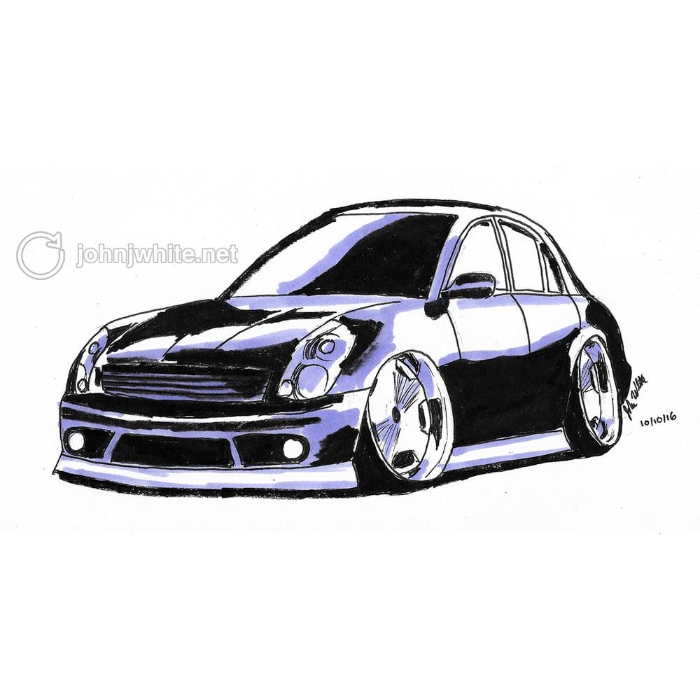 Image of Cartoon Car Drawing