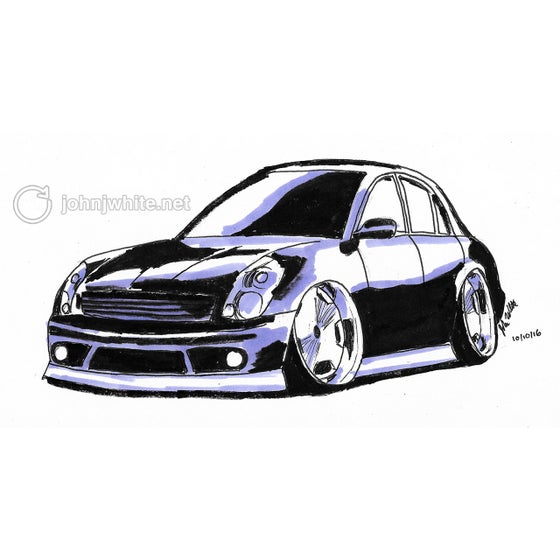 Image of Cartoon Car Drawing