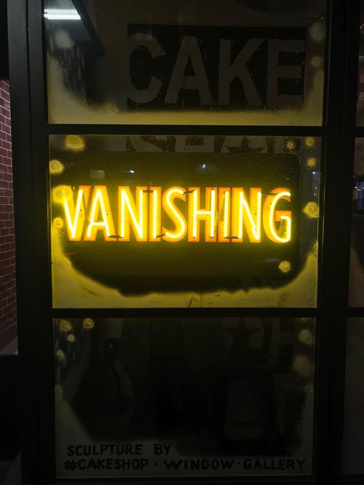 Image of VANISHING neon sign