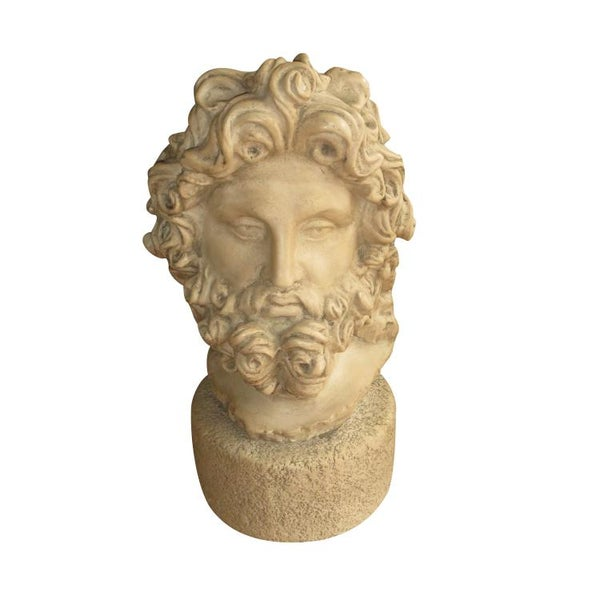 Image of Large Antique Greek Zeus Statue Bust