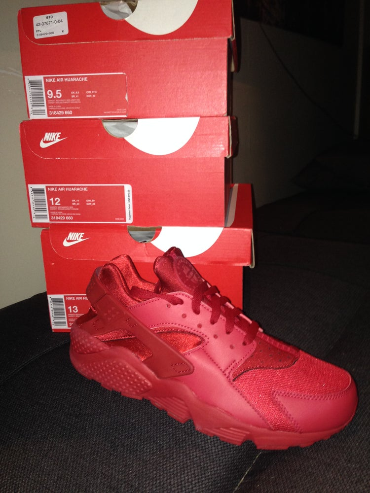 "Image of Nike Air Huarache ""Triple Red"""