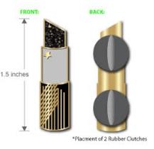 Image of BLACK MAGIC LIPSTICK PIN