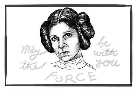 Image of May the Force Be With You Postcard