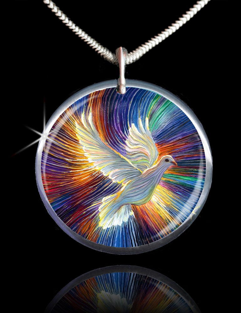 Image of The Dove Of Hope Energy Pendant